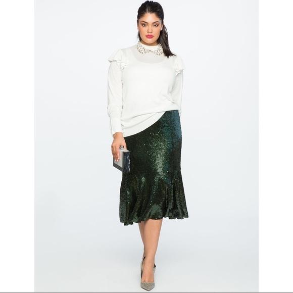 da25c334319 Eloquii Dresses   Skirts - Eloquii sequin trumpet midi skirt